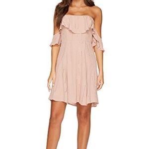 Astr lace trim shift dress size xl